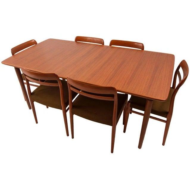 Norwegian Expanding Teak Dining Set - Image 6 of 10