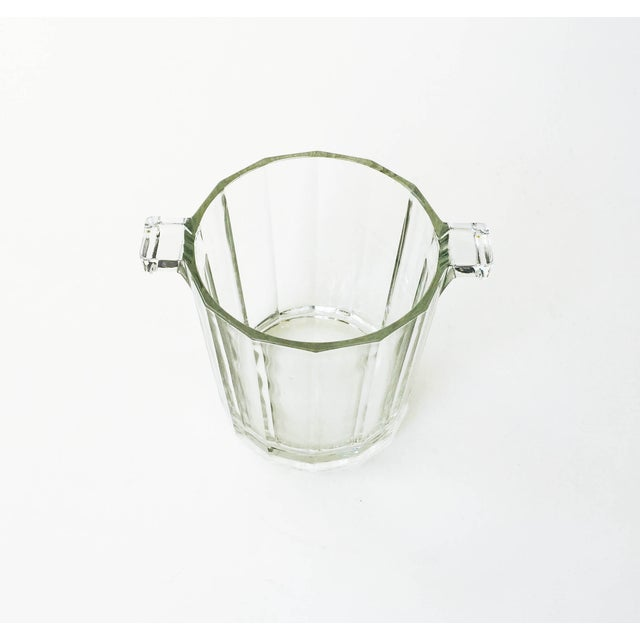 Vintage Faceted Glass Ice Bucket - Image 3 of 4
