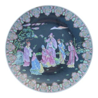Vintage Chinoiserie Decorative Plate