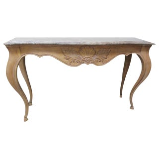 French Country Style Marble Top Console by Century Furniture
