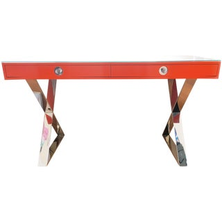 Jonathan Adler Special Ed. Orange & Nickel Desk