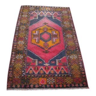 Vintage Turkish Oushak - 3″ × 7″