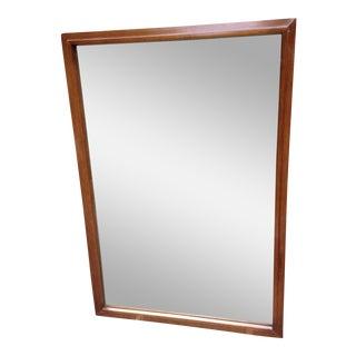 Mid Century Modern Wood Mirror