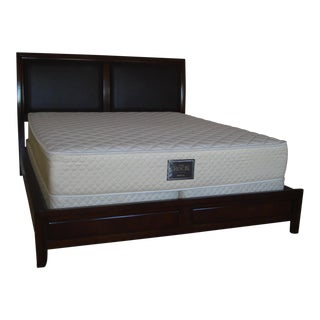 Upholstered Wooden California King Bed Frame