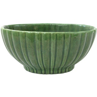 Haeger Green Pottery Planter