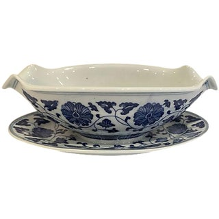Blue & White Chinese Sauce Boat
