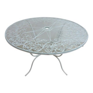 Vintage Scrolled Iron Patio Table
