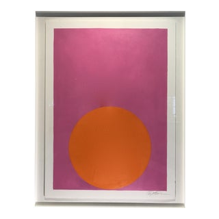 Orange Crush Dot on Bright Pink Painting