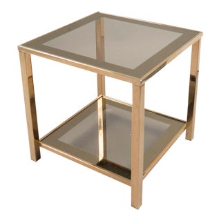 Pair of French Brass Side Tables