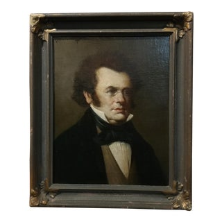 19th C. Franz Schubert Oil Portrait