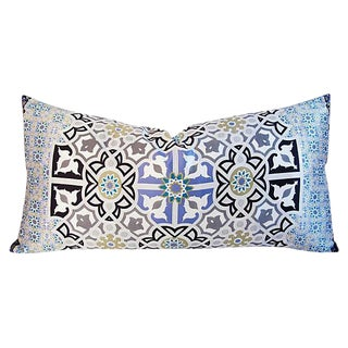 Jumbo Italian Silk Andalusian Moorish Feather/Down Lumbar Pillow