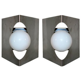 Modernist Pair of European Wall Sconces