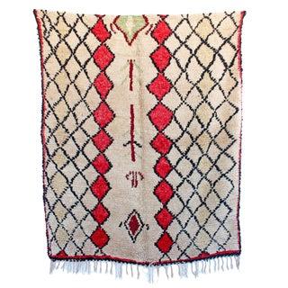 "Vintage Azilal Moroccan Berber Rug - 4'6"" X 5'6"""