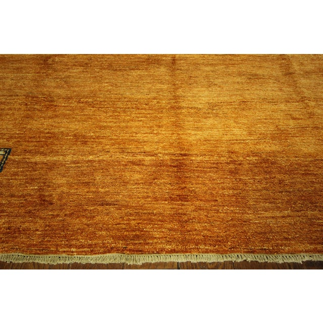 Orange Shades Super Gabbeh Oriental Rug - 7' x 10' - Image 5 of 10