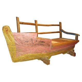 Re-Purposed Teak Wood Boat Bench
