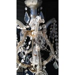 Image of Vintage French Crystal 8 Light Chandelier