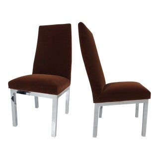 Set of Four Chic Milo Baughman Style Side Chairs