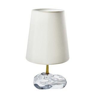 """Sassone"" Glass Amber Table Lamps by Esperia"