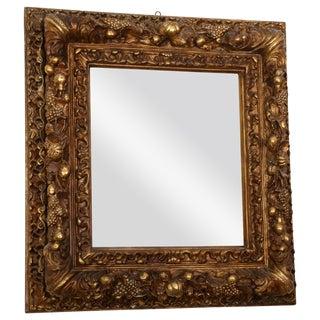 Massive 18th Century Italian Gilded Papier-Mâché Mirror