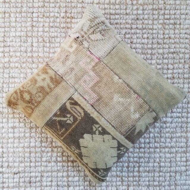 Vintage Turkish Rug Fragment Pillow - Image 3 of 10