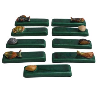 Majolica Sealife Knife Rests - Set of 9