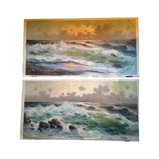 M. Rinaldi Vintage Seascape Paintings - A Pair