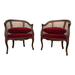 Vintage Country French Carved Chairs - A Pair