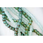 Image of Green & Ice Sea Glass Bead Strands - Set of 4