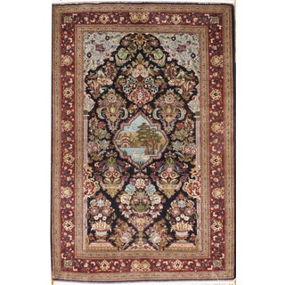 """Pasargad Kashan Hand-Knotted Rug - 3'4"""" X 5'2"""""""