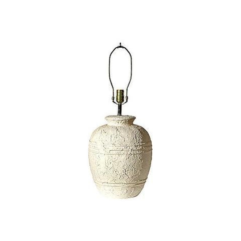 1970s White Textured Barrel Lamps - A Pair - Image 3 of 7