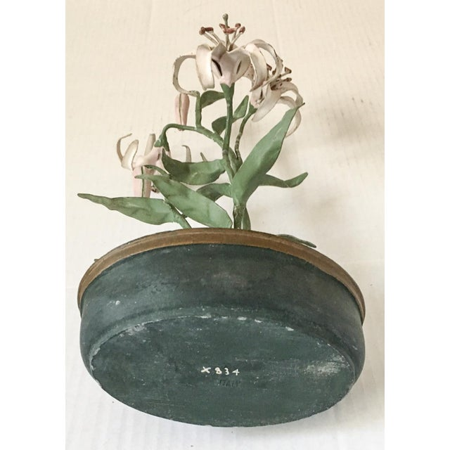 Italian Tole Potted Lily Plant - Image 5 of 8