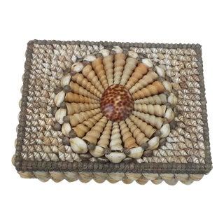 Vintage Handmade Seashell Jewelry Box