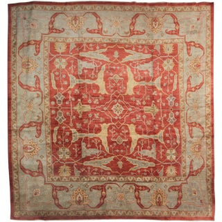 Hand Knotted Fine Oushak Rug - 12' X 12'