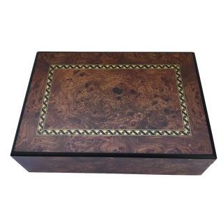 Italian Burl Wood Jewelry Box