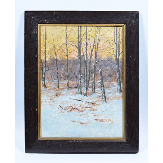 Winter Impressionist Painting of Central Park - Image 3 of 8