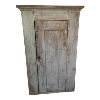 Antique Wooden Blue Hutch