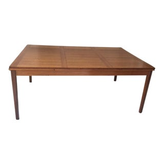 Vintage Ansager Danish Teak Extension Dining Table