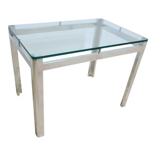 Vintage Mid-Century Aluminum Chrome End Table