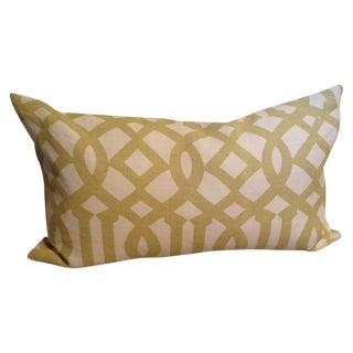 Citrine Trellis Print Lumbar Pillow