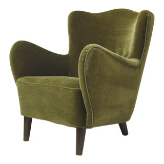 Scandinavian Mohair Lounge Chair