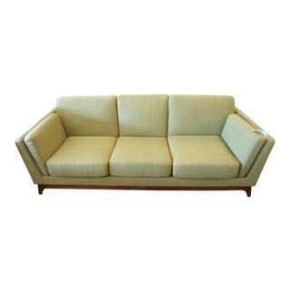 Mid-Century Modern Seagrass Green Sofa