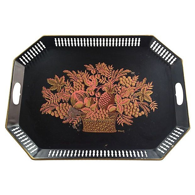 Image of Hand-Painted Tole Tray
