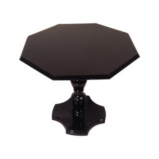 Glossy Black Pedestal Table