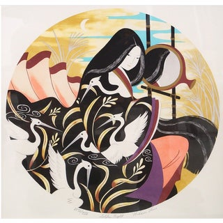 Golden Night Signed and Numbered Serigraph by Miharu Lane
