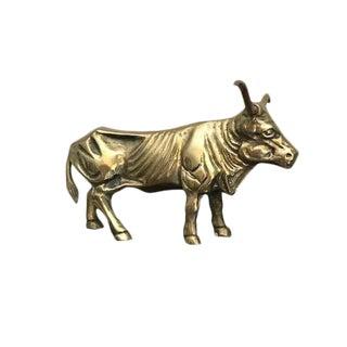 Vintage Brass Texas Longhorn Figure