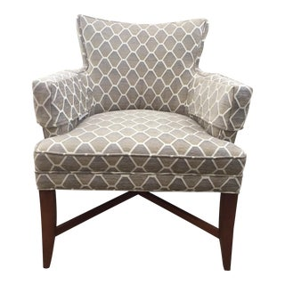 Pearson Gray & Beige Patterned Accent Chair