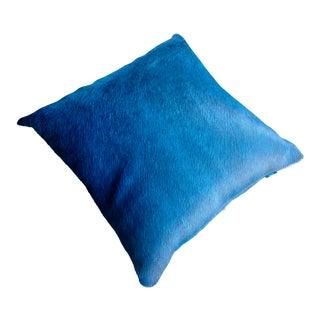 Gambrell Renard Blue Cowhide Pillow