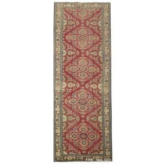 """Vintage Persian Tabriz Runner Rug - 3'2"""" x 13'"""