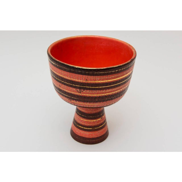 Image of Large Bitossi Footed Coupe for Raymor, 1960s