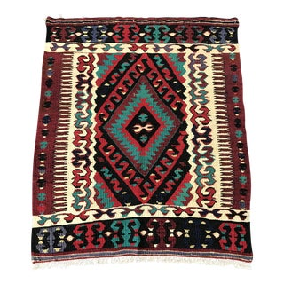 Antique Handwoven Turkish Kilim Rug - 2'10''x3'5''